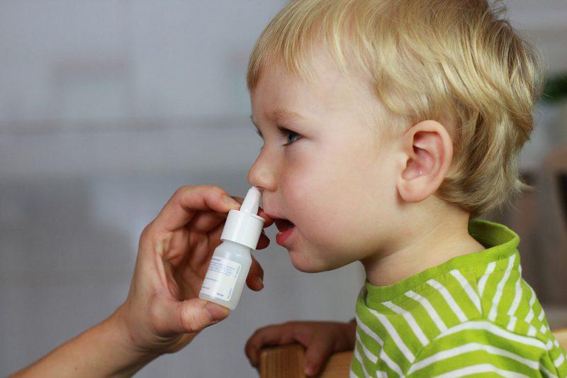 капли ребенку в нос